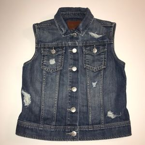 Greywire Distresses Denim Vest  Size: XS